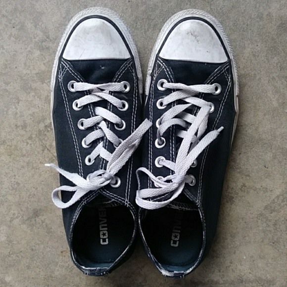 Converse Shoes - Converse all star black sneakers size 8 EUC
